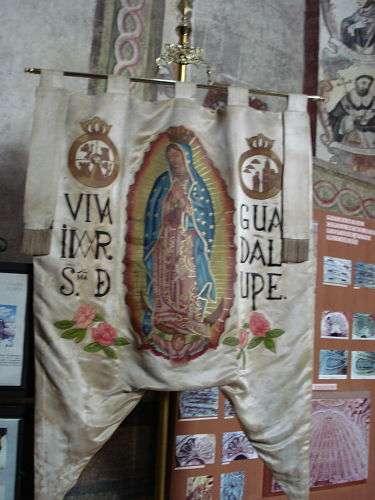 Réplica del Estandarte de Hidalgo. Templo de Atotonilco, Mpio. de San Miguel de Allende.