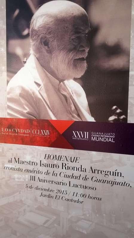 LA ASOCIACIÓN DE CRONISTAS RINDE HOMENAJE A SU FUNDADOR: DR. ISAURO RIONDA  A. EN SU TERCER ANIVERSARIO DE FALLECIMIENTO.